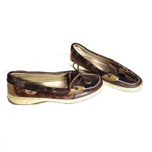 Sperry Top- Sider Women's Leather Boat Shoes, 7M